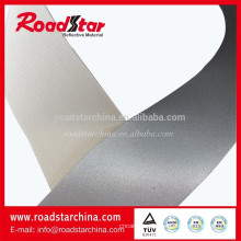Alto visible plata reflexivo PVC de cuero