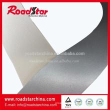 Alta visível prata refletivo PVC couro