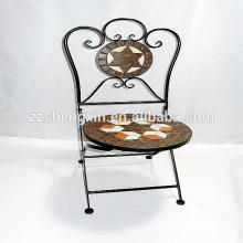 Silla redonda plegable Mosaic Bistro Chair