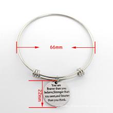 2016 atacado expansível cobre bracelete pulseira encantos bracelete