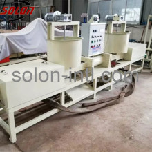 Hydraulic compressed wood pallet transport machine