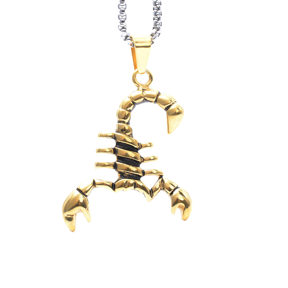 Hip Hop Gold Pendant Designs Men Scorpion Pendant