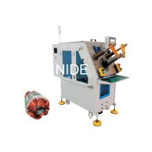 Однофазная катушка индуктивности электродвигателя и машина для установки клина