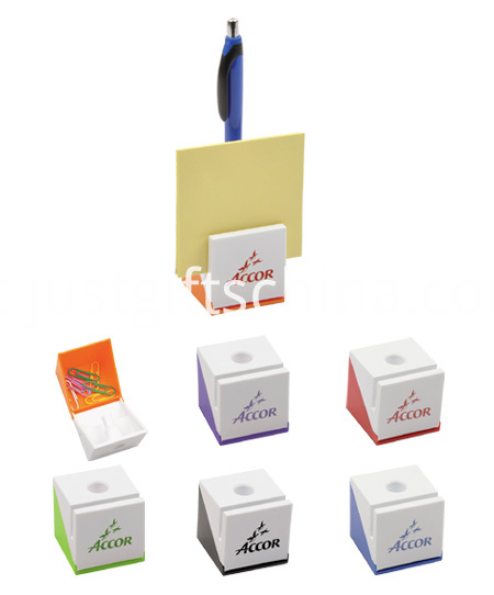 Promotional Multifunctional Plastic Notes Box WPen