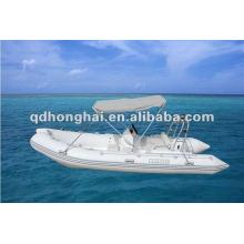 Barco de la costilla de CE rígido de fibra de vidrio casco HH-RIB500C