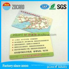 Carte en plastique imprimée adaptée aux besoins du client de carte de voeux de carte de voeux de PVC