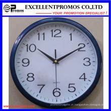 Novo estilo 12 polegadas logotipo de impressão rodada relógio de parede de plástico (EP-Item12)