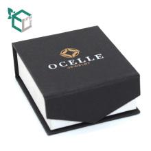Fermeture magnétique logo noir estampage boîte à bijoux