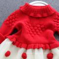 robes de noël enfants chandails rouges jupes pour enfants XMAS BABY RED SWEATERS ROBES ROBES ROBE BONNE QUALITE