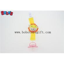 Pelúcia Leão Amarelo Infant Brinquedos Baby Pacifier Clip Soother titular para o bebê Bosw1051