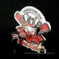 Nouveau design coloré personnalisé en métal épingles en émail doux avec badge de baseball époxy