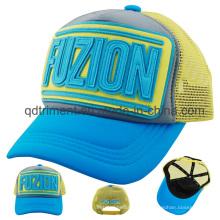 Chapeau de camionneur de loisirs en maille à broder élastique en PVC Applique (TMT0723)