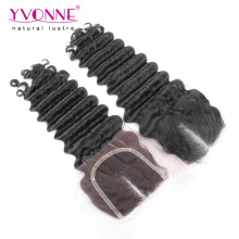 Deep Wave Brazilian Human Hair Closure