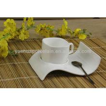Chaozhou porcelana al por mayor tazas de té y platillo