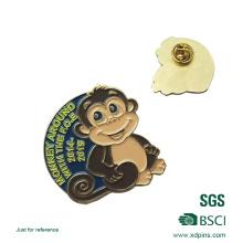 2016 Custom Metal Monkey Badges e Pins para Presentes Infantis