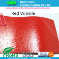 RAL3020 Red Wrinkle Struktur Pulverlackering