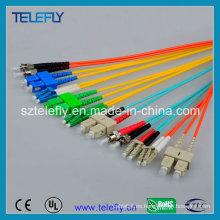 Sc Cable óptico de la fibra, cable óptico del LC, cuerda óptica del remiendo de FC