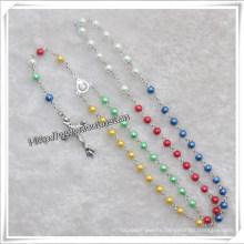 Fashion Handmade Glass Religious Chain Rosary (IO-cr330)