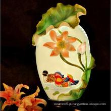 Cerâmica AFORTUNADA COUPLES sombra da lâmpada, lótus sombra da lâmpada da lagoa
