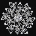 Wholesale 60mm Crystal Rhinestone Brooch Pins,Wedding Round Bridal Brooch Pins,Invitation Pins