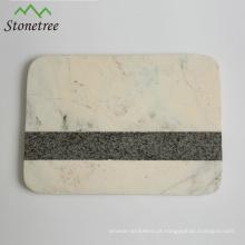Placa de corte de corte de mármore natural com placa / placa de pastelaria