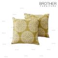 Kundengebundenes 18 Zoll Abdeckungs-Sofa-dekoratives Leinenwerfkissen