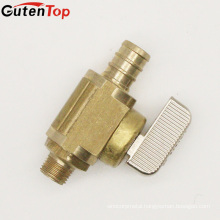 GutenTop High Quality Watts PEX Angle Valve 1/2 Inch Barb x 3/8 Inch Female Garden Hose Low-Lead, Brass