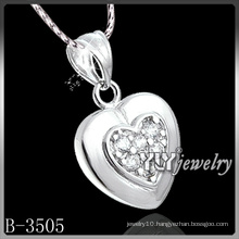 Fashion Heart Cubic Zirconia with 925 Sterling Silver (B-3505)
