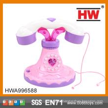 Классический для девочек B / O со светом и звуком розовый цвет Funny Telephone