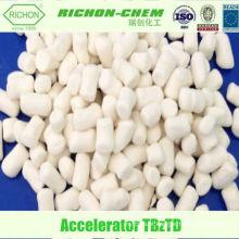 Aditivos químicos da fabricação chinesa do fornecedor CAS NO. 10591-85-2 Acelerador de Borracha TBZTD