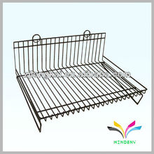 3 prateleiras folha de metal removível de pintura removível Wire Display Stand