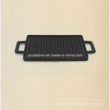 Cast Iron Cookware Griddle Size 38X23cm