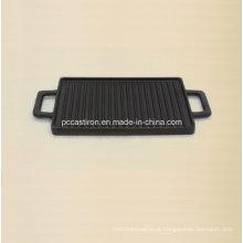Panelas de ferro fundido Griddle Tamanho 38X23cm