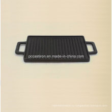 Размер сковородки для сковородки чугуна 38X23см