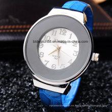Reloj de cuarzo con brazalete de pulsera de mujer