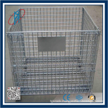 Foldable Galvanized & Powder Coated Metal Wire Mesh Container