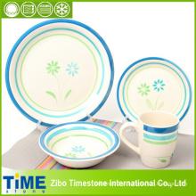Excelente design azul feito à mão talheres conjunto (15032103)