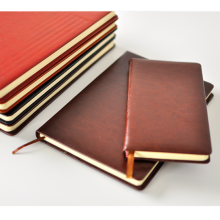 printed monogrammed Pu leather notebook with logo