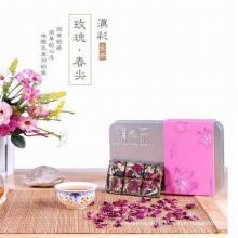 PU-Erh mini chá fermentado com sabor rosa lindo em caixa de presente