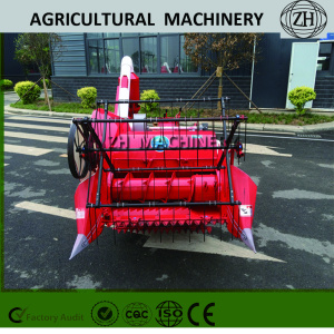 Mini 0.9kg/s Walking Combine Harvester in Red
