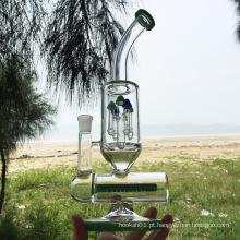 Inverno mais novo projeto de vidro verde fumar tubos de água (ES-GB-299)