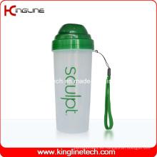 550ml botella de plástico Shaker de proteína con filtro y cordón (KL-7037)