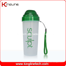 550ml Plastic Protein Shaker Bottle with Filter and Lanyard (KL-7037)
