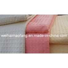 Fábrica de barquillos de algodón 100% tejido de manta