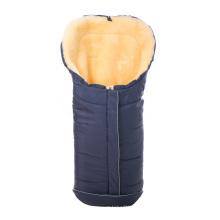 Saco de dormir de piel de oveja merino genuino para bebés