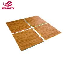 Non-toxic Eco friendly Cushioned Floor Mat foam wood grain eva mat