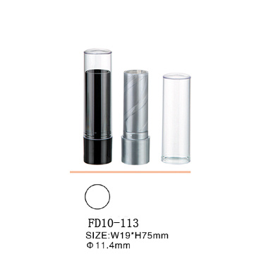 The round black plastic lipstick tube