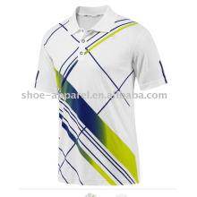 camiseta de polo de entrenamiento de sublimación para hombre