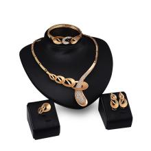 Conjuntos de joyas de diamantes para conjuntos de circón nupcial de cristal (C-XSST0038)