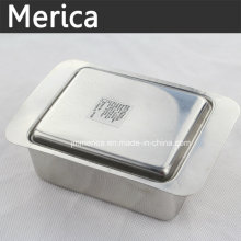 Stainless Steel Butter Tray with Cover